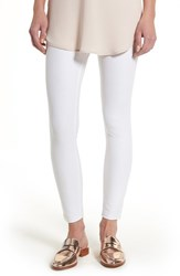 Hue Women's Essential Denim Skimmer Leggings White