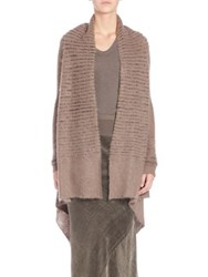 Rick Owens Wool Open Front Wrap Brown