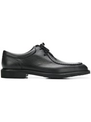 Moreschi Square Toe Lace Up Shoes Black
