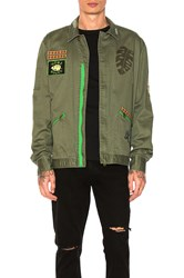 Scotch And Soda Worked Out Shirt Jacket Green