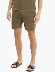 S.N.S. Herning Olive Cotton Resolution Shorts Green