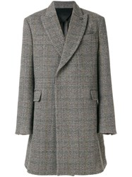 Stella Mccartney Oscar Herringbone Coat Men Viscose Wool 46 Grey