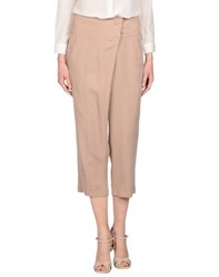 Alysi Trousers 3 4 Length Trousers Women Light Brown