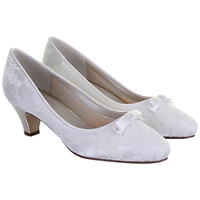 Rainbow Club Patsy Satin Kitten Heels Ivory