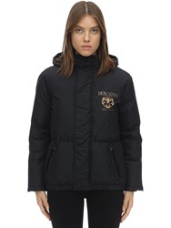 Moschino Hooded Down Jacket Black