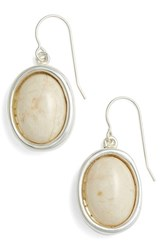Simon Sebbag Women's Oval Drop Earrings Ivory