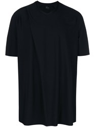Lost And Found Rooms Fold Detail T Shirt Black