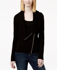 Inc International Concepts Zip Moto Sweater Coat Only At Macy's