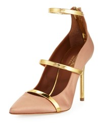 Malone Souliers Robyn Three Strap 100Mm Pump Beige