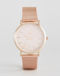 Asos Rose Gold Clean Mesh Strap Watch Rose Gold Copper