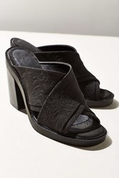 Urban Outfitters Laura Jacquard Cross Strap Mule Black