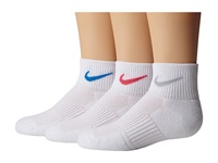 Nike Cotton Cushioned Quarter With Moisture Management 3 Pair Pack White Wolf Grey White Pink White Light Photo Blue Women's Quarter Length Socks Shoes