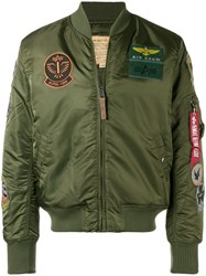 Alpha Industries Patch Bomber Jacket Green