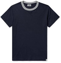 Sleepy Jones Andre Cotton Jersey Pyjama T Shirt Navy