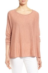 Petite Women's Eileen Fisher Cashmere Bateau Neck Sweater Toffee Cream