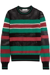 Etoile Isabel Marant Deacon Striped Knitted Sweater Black