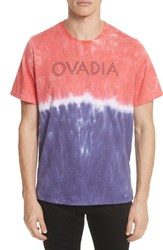 Ovadia And Sons 'S Ombre Tie Dye T Shirt Red White Purple