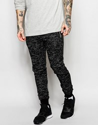 Criminal Damage Skinny Joggers In Fleck Fabric Co Ord Black