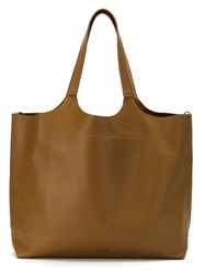 Osklen Leather Tote Bag Brown