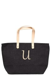 Cathy's Concepts 'Nantucket' Personalized Jute Tote Grey Black U