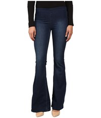 Free People Penny Pull On Flare Denim Blue Women's Jeans