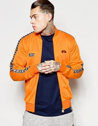 Ellesse Track Jacket With Logo Taping Orange