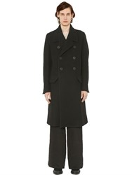Rick Owens Double Breasted Wool Felt Coat