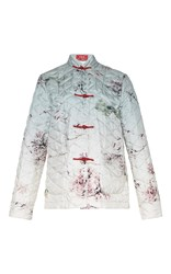 For Restless Sleepers Giapeto Long Sleeve Quilted Jacket White Red Pink