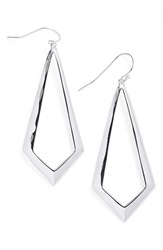 Argentovivo Women's Argento Vivo Triangle Drop Earrings Silver