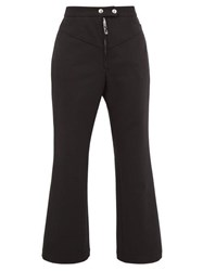 Ellery Never On Sunday High Rise Canvas Flared Trousers Black
