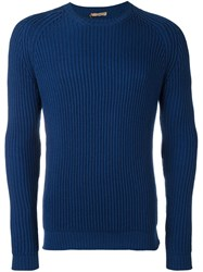 Nuur Cable Knit Jumper Blue