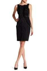 Eva Franco Tupelo Front Button Dress Black