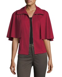 Grayse Capelet Zip Front Jacket Red