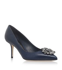 Dolce And Gabbana Bellucci Leather Pumps 75 Female Navy