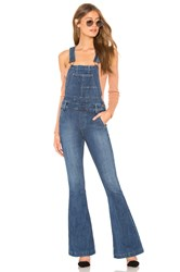 Free People Carly Flare Overall Blue