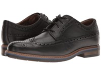 Bostonian Melshire Wing Black Tumbled Leather Men's Lace Up Wing Tip Shoes