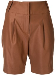 Manning Cartell High Rise Shorts Brown