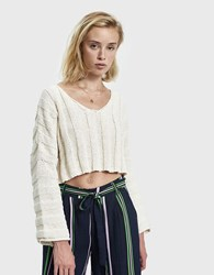 Which We Want Lisa Oversize Cropped Sweater Cream