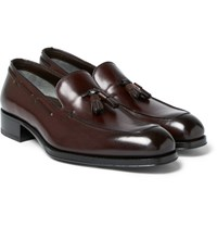 Tom Ford Edgar Leather Tasselled Loafers Brown
