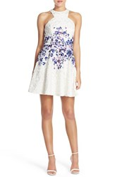 Women's Jay Godfrey Print Lace Fit And Flare Dress