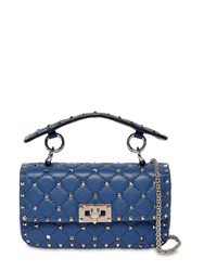 Valentino Garavani Small Spike Leather Shoulder Bag Baltique
