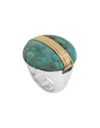 Robert Lee Morris It's Ringing Wire Wrapped Patina Round Ring