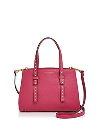 Marc Jacobs Mini T Leather Satchel Hibiscus Gold