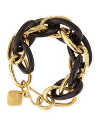 Ashley Pittman Ndovu Dark Horn And Bronze Bracelet