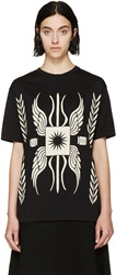 Fausto Puglisi Black Laurel Wing Print T Shirt