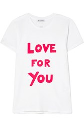 Bella Freud International Women's Day Love For You Printed Cotton Jersey T Shirt White Gbp