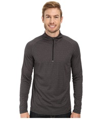 Prana Orion 1 4 Zip Charcoal Men's Sweater Gray