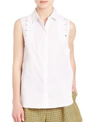 3.1 Phillip Lim Staple Detail Button Front Shirt White