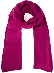 The Elder Statesman Blanket Scarf Pink And Purple