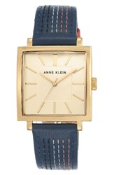 Anne Klein Women's Square Leather Strap Watch 42Mm X 34Mm